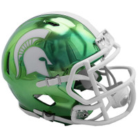 Michigan State University Riddell Chrome Alternate Speed Mini Football Helmet