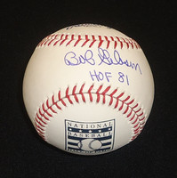 "Bob Gibson Autographed Hall of Fame Logo Baseball - Official Major League Ball inscribed ""HOF 81"""