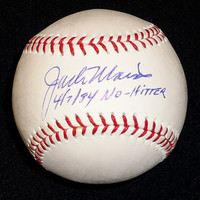 "Jack Morris Autographed Baseball - Official Major League Ball Inscribed ""4/7/84 No Hitter"""
