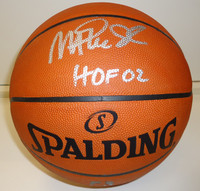 Magic Johnson Autographed Basketball - NBA Leather Game Ball
