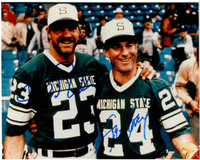 Kirk Gibson & Steve Garvey Autographed 8x10 Photo #1 - Michigan State Baseball/Football