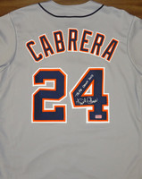"Miguel Cabrera Autographed Detroit Tigers Road Jersey - ""Triple Crown 2012"" Inscription"