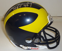 "Dan Dierdorf Autographed Michigan Wolverines Mini Helmet inscribed ""HOF 96"""