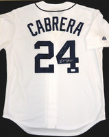 "Miguel Cabrera Autographed Detroit Tigers Home Jersey - ""Triple Crown 2012"" Inscription"