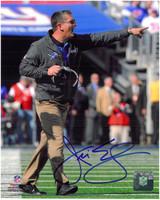 Jim Schwartz Autographed Detroit Lions 8x10 Photo #2 - Pointing