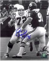 Dan Dierdorf Autographed St. Louis Cardinals 8x10 Photo #2 - Blocking the Pass Rush
