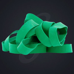 12 pack of Kelly Green Classic Grand Band replacement rubber bands