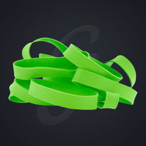 12 pack of Lime Green Classic Grand Band replacement rubber bands