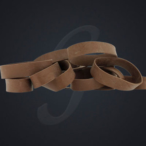 "12 pack of Brown Luxe ""Medium"" Grand Band replacement rubber bands"