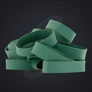 "12 pack of Green Luxe ""Medium"" Grand Band replacement rubber bands"
