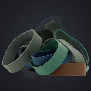 """12 pack of Multi Colored Luxe """"Medium"""" Grand Band replacement rubber bands"""