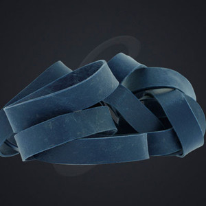 12 pack of Navy Blue Luxe Grand Band replacement rubber bands