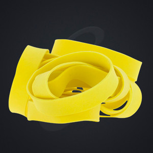 """12 pack of Yellow Luxe """"Medium"""" Grand Band replacement rubber bands"""
