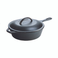 Cast Iron 3.2 Quart Covered Deep Skillet