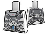 Torso White with Armor Pattern