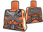 Torso Orange with Armor Pattern