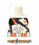 Custom Printed Lego Minifigure Torso - Orange Airborne Trooper