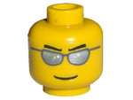 - Lego Minifigure Head with Silver Glasses