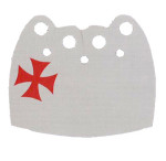 Crusader White Over Cape with Red Cross