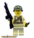 Brick Republic Custom Minifigure WWII US Marine BAR Gunner
