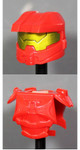 Clone Army Customs Orbital Helmet & Armor - Red