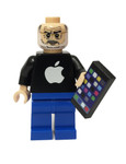 Brick Republic Custom Minifigure - Steve Jobs w/ iphone