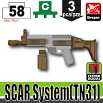 SI-DAN Deep Bronze Brown SCAR System (TN31)