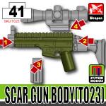 SI-DAN Tank Green SCAR Gun Body (TO23)