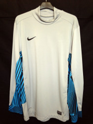 Nike Mens Goalkeeper Jersey Grey/Blue - Large