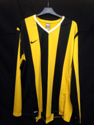 Nike Mens Inter Stripe Jersey - Yellow/Black - XLarge