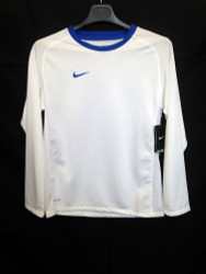 Nike Boys Brasil IV Jersey- White/Blue - Large Boys