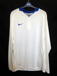 Nike Mens Brasil Jersey - White/Blue - Large