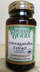 Swanson Ashwagandha Extract 60caps 450mg.