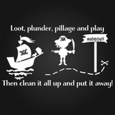 PIRATE PLAY vinyl wall sticker for nursery play room fun child