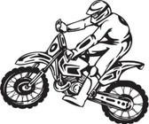 Motocross motorcycle stunt dirt bike freestyle action vinyl wall art sticker 96