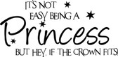 IT'S NOT EASY BEING A PRINCESS wall sticker girl bedroom decor words saying home