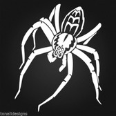 Spider wall art sticker decal for vehicle motorbike window mirror man cave #029