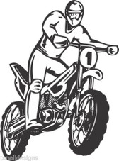 Motocross motorcycle dirt bike freestyle action stunt vinyl wall art sticker #99