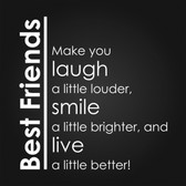 BEST FRIENDS vinyl wall sticker saying