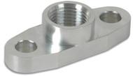 """Aluminum Oil Flange for GT32-GT55R (Tapped - 1/2"""" NPT)"""