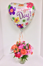 It's Your Day Bouquet With Matching Mylar Balloon