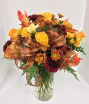 """""""Autumn is golden"""" vase"""