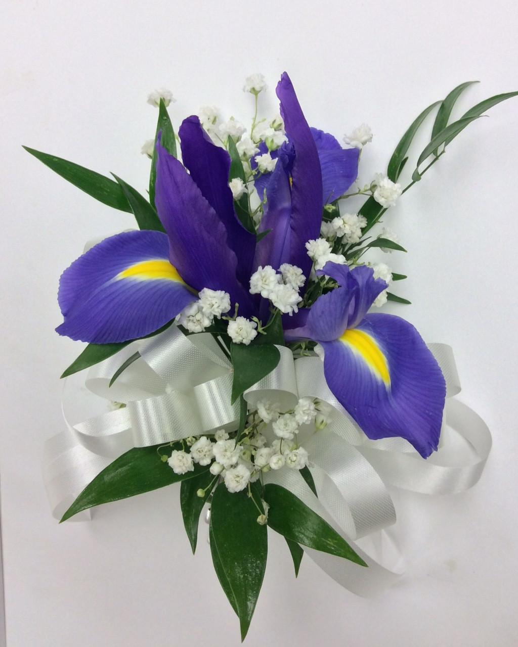 Fresh Iris Corsage Centerville Florists