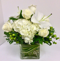 Stunning large cube in creams, whites, and greens