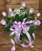 Dozen Long-Stemmed Lavender Rose Arrangement
