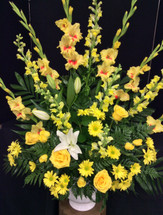 Celebration Arrangement in Yellows and Whites