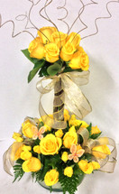 Golden Yellow Rose Topiary