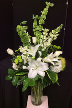 Classic Elegance Vase in Creams and Whites