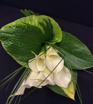 Calla Lily Hand Tied Bridal Bouquet