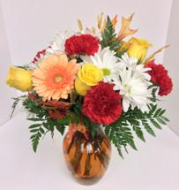 """Gerbera sunrise"" Mixed Vase"